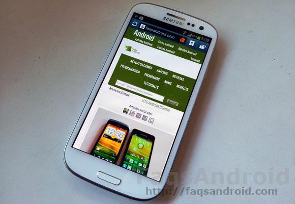 Primer contacto con el Samsung Galaxy S3