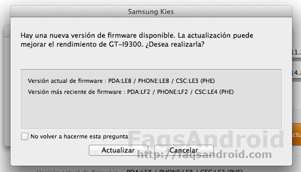 El Samsung Galaxy S3 recibe su primera actualización vía OTA