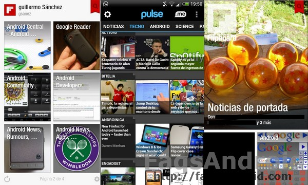 Flipboard como alternativa a Pulse