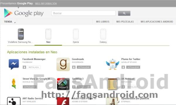 Desinstala las aplicaciones desde Google Play Store