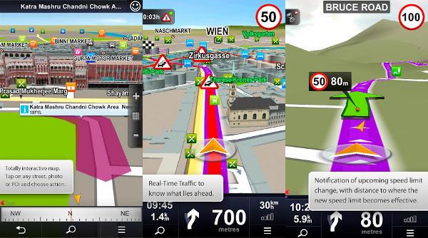 Capturas de pantalla de Sygic Aura para Android