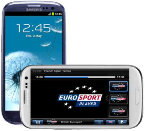 Eurosport en el Samsung Galaxy S3