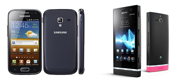 Sony Xperia U vs Samsung Galaxy Ace 2