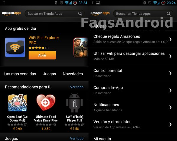 La tienda de apps de Amazon vs la Play Store de Google