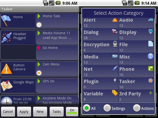 Gestión de perfiles en Android: Tasker