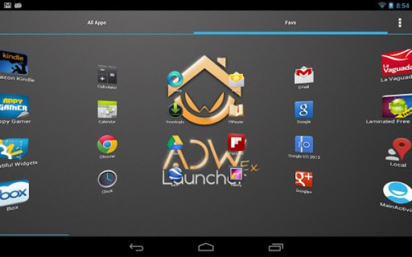 ADW Launcher captura escritorio