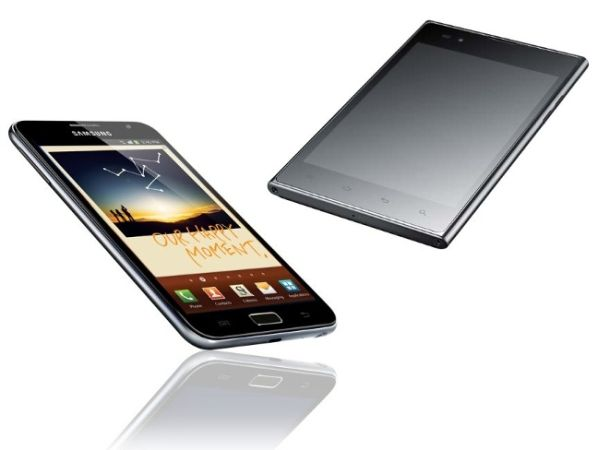 Phablets Galaxy Note 2 LG Optimus VU