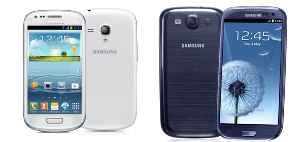 Tabla comparativa del Samsung Galaxy S3 y Galaxy S3 Mini