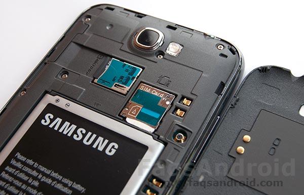 La batería del Samsung Galaxy Note 2