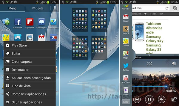 Analizamos la multitarea en el Samsung Galaxy Note 2, con vídeo HD
