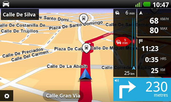 TomTom navigator disponible en la Play Store