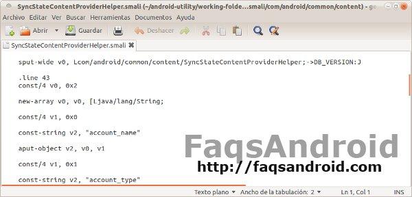 Código fuente de una app decompilada