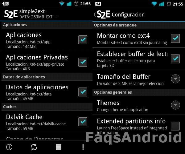 Captura de pantalla de s2e