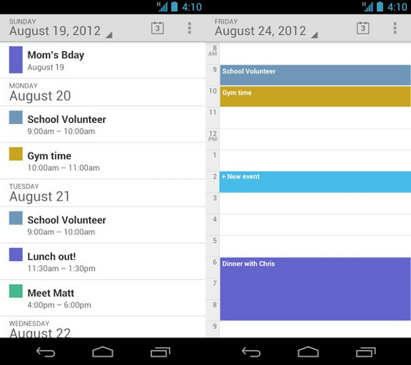 La aplicación Google Calendar disponible para instalar por separado