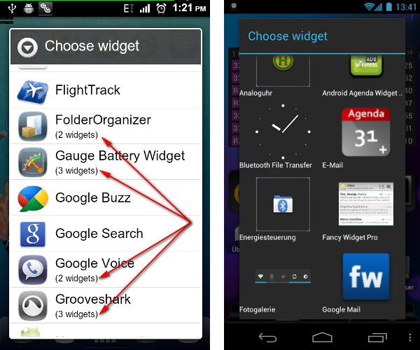 AppWidgetPicker: Minimiza el tamaño de la lista de widgets