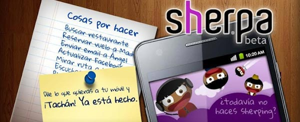 Sherpa, asistente personal para Android