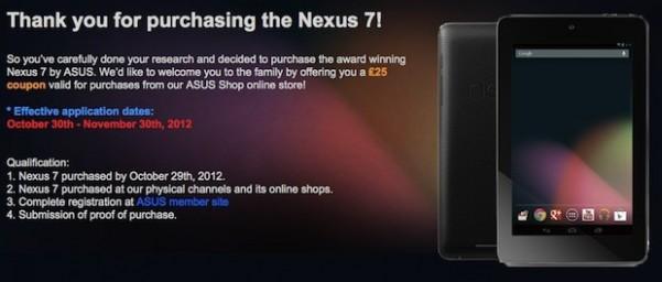 Google y Asus reembolsarán parte de la bajada de precio del Nexus 7