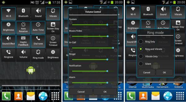 Una barra de acceso rápido inspirada en Android 4.2 con Control Panel