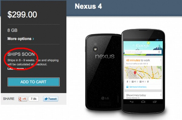 Envio Nexus 4