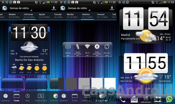 HD widgets vs Widgets de HTC, aplicación contra empresa