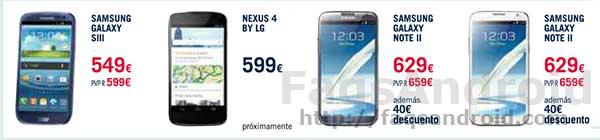 LG Nexus 4 precio tienda física