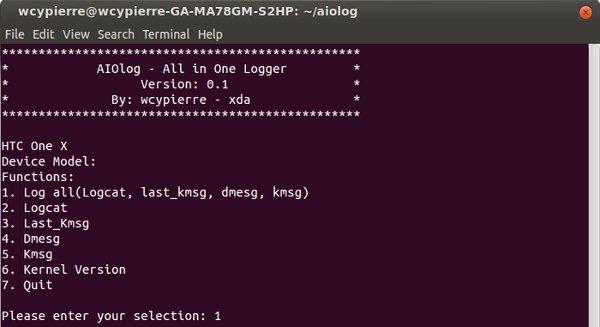 Captura de pantalla de AIOLog
