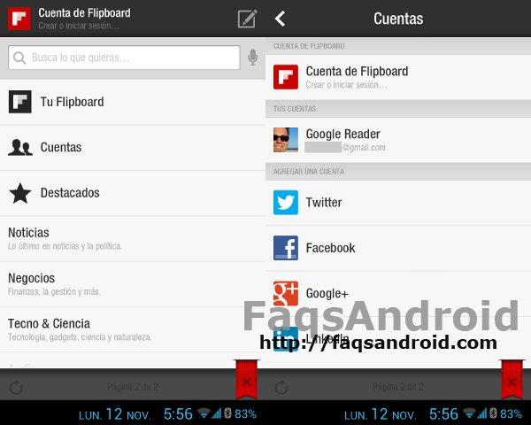 Cómo añadir tus fuentes de noticias a Flipboard