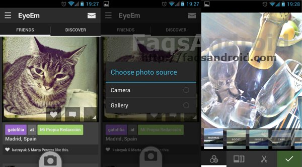 Eyeem para Android Capturas