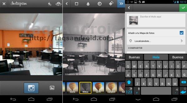 Nueva cámara y nuevo filtro en Instagram para Android