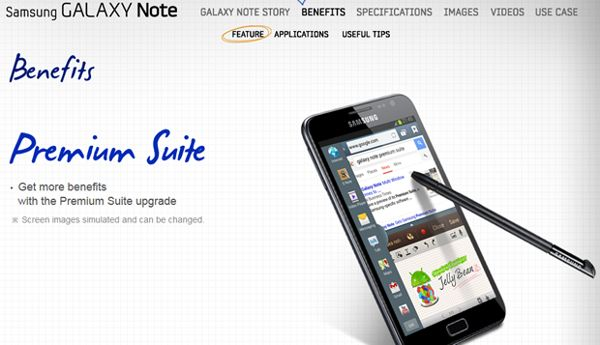 Premium Suite con Jelly Bean y multiventana para el Samsung Galaxy Note
