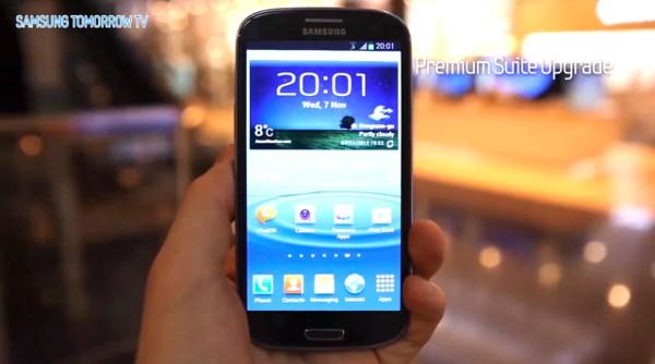 El Samsung Galaxy S3 se prepara para recibir la Premium Suite