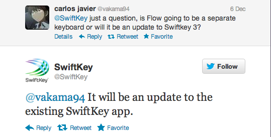 Swiftkey Flow será una actualización de Swiftkey, no una nueva app