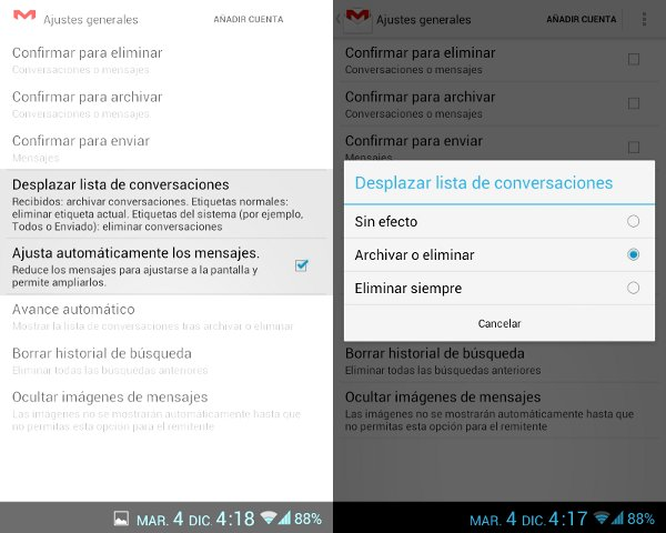 Captura de pantalla de GMail