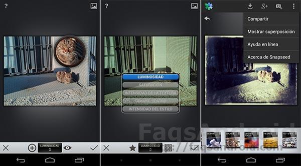 3 Aplicaciones Android de fotografía: Snapseed