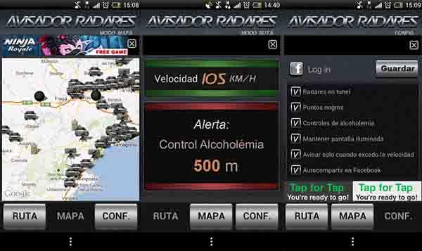 Avisador de Radares para Android