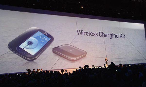 Carga inalámbrica a distancia de Samsung Galaxy s4