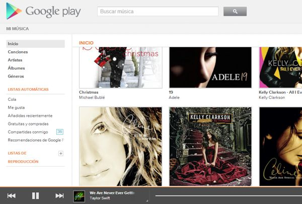 Google Music Versión Online