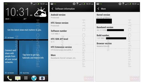 HTC Sense 5 One M7