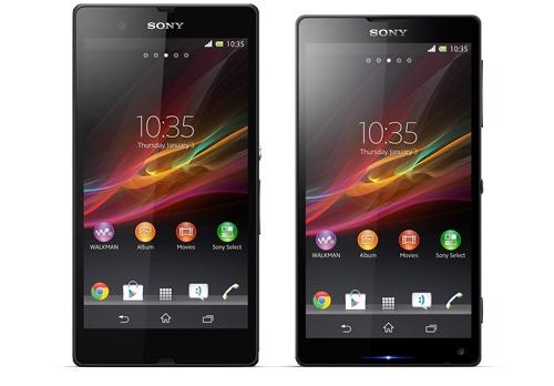 Así lucen el Sony Xperia Z, Yuga, y el Sony Xperia ZL, Odín