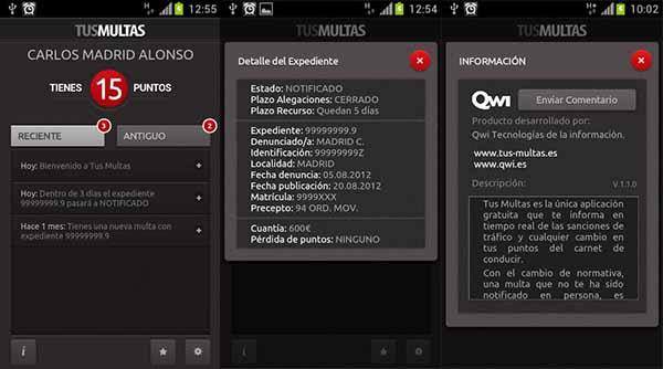 TusMultas para Android