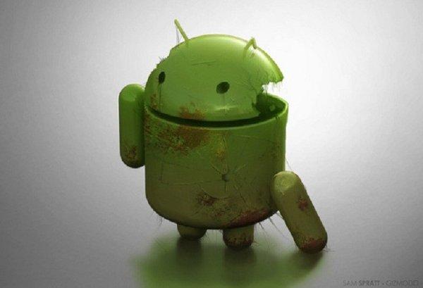 Banner con un Android roto