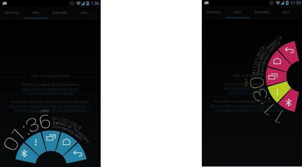 Capturas de pantalla de LMT, la app que implementa esta nueva funcionalidad