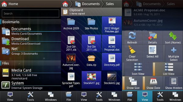 Capturas de pantalla de FX File Explorer
