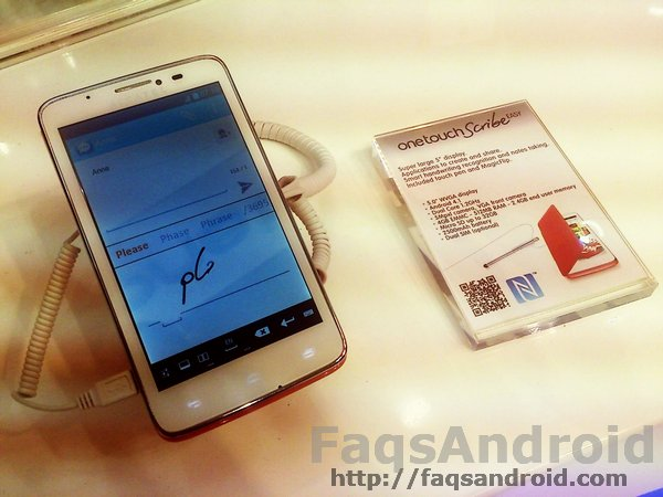 Gama Alcatel One Touch Scribe MWC13 02