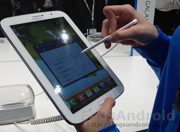 Toma de contacto y primer análisis del Samsung galaxy Note 8.0