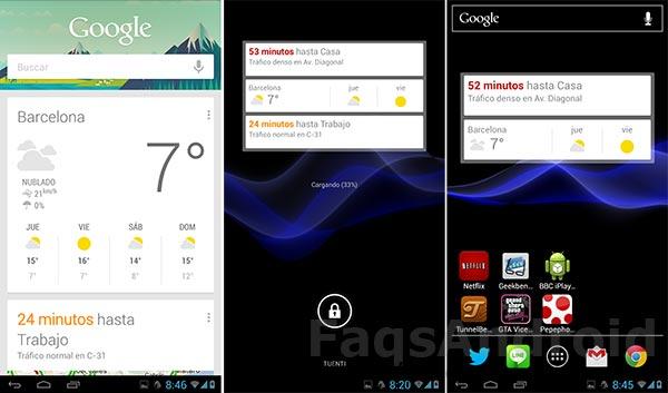 Nuevo Google Now se actualiza con más tarjetas y widgets