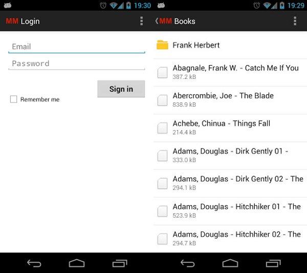 Aplicación de MEGA para Android