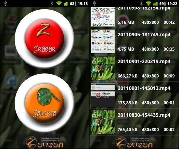 Aplicaciones y programas para grabar la pantalla de tu Android - Z-Screen Recorder