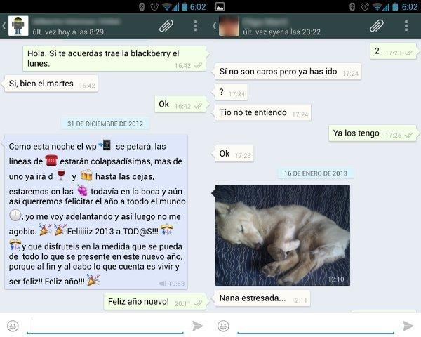 Capturas de pantalla del nuevo WhatsApp