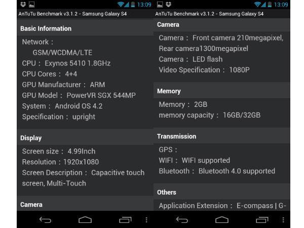 AnTuTu Benchmark Samsung Galaxy S4